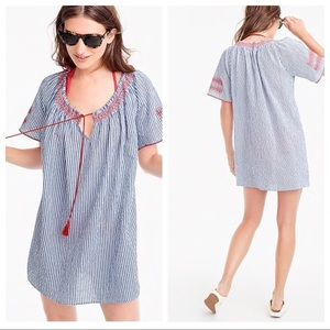 NWT J.Crew Embroidered tie front tunic Sz s dress